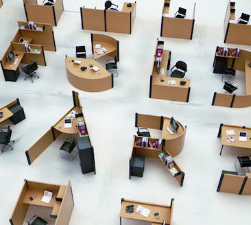 Tipograf a inspirada en los espacios de trabajo de las for Trabajo limpiando oficinas