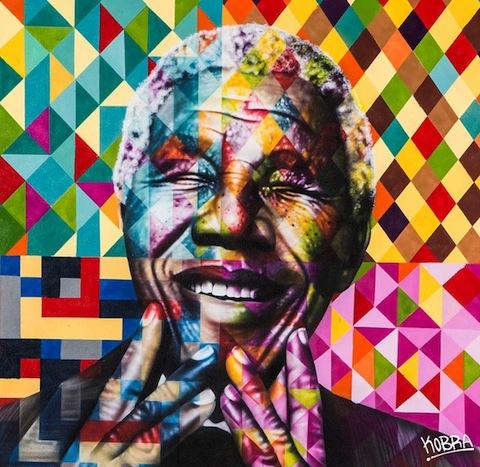 Murales a gran escala rinden tributo a los iconos mundiales de la paz