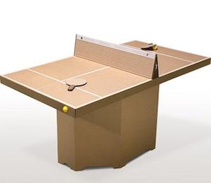 Un Mesa De Ping Pong De Carton Para Divertirte En La Oficina
