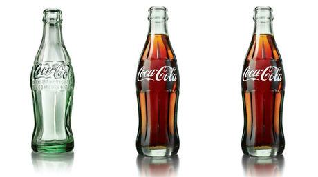 Nuevo diseo para la botella de vidrio de CocaCola paredrocom