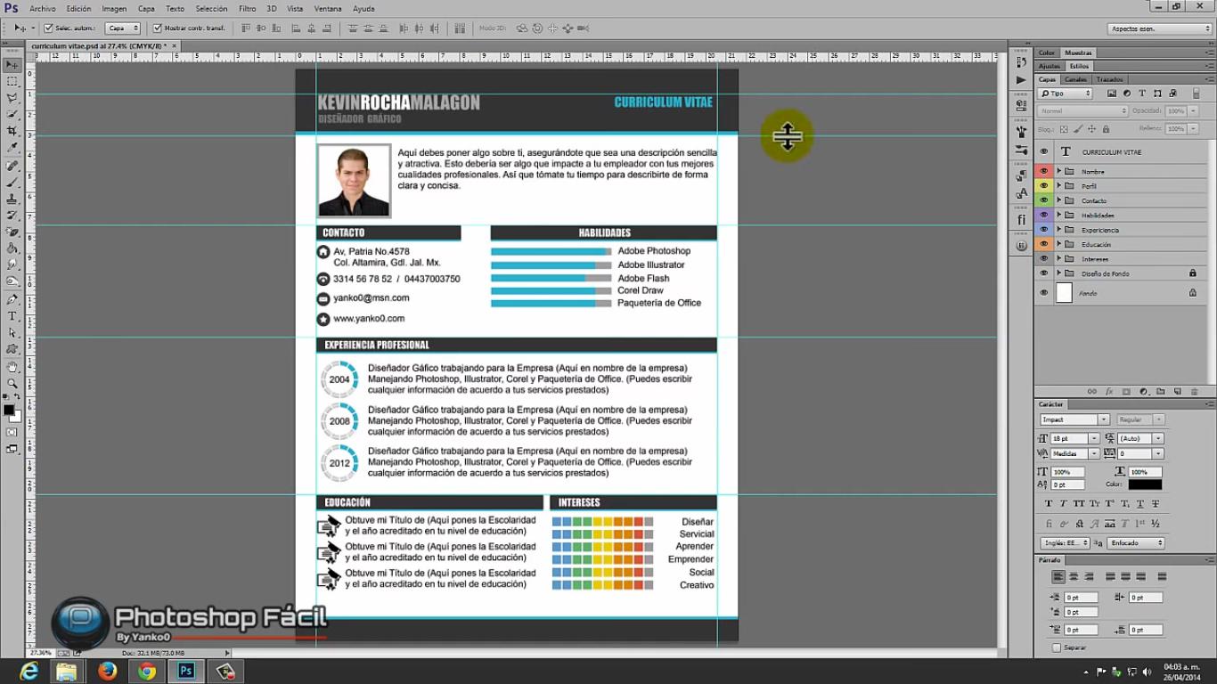 Tutorial: diseña un Curriculum Vítae digno de diseñador con ...