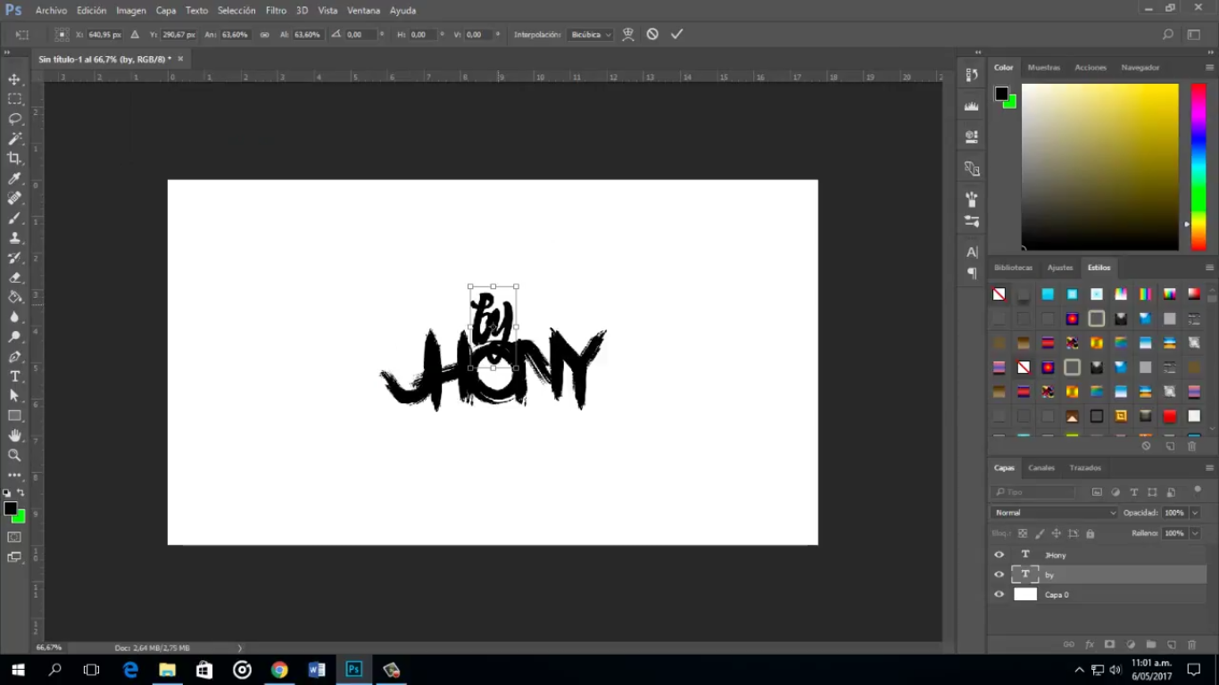 #Tutorial: Cómo hacer letras Cartoon en Photoshop