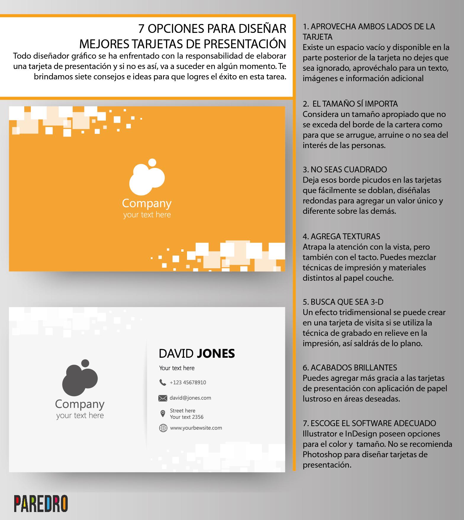 Infografía: 7 maneras de diseñar mejores tarjetas de presentación ...