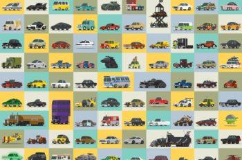 El creativo visual canadienseScott Parkcreó Star Cars, ilustraciones de automóviles famosos de exitosas películas o emisiones de televisión.