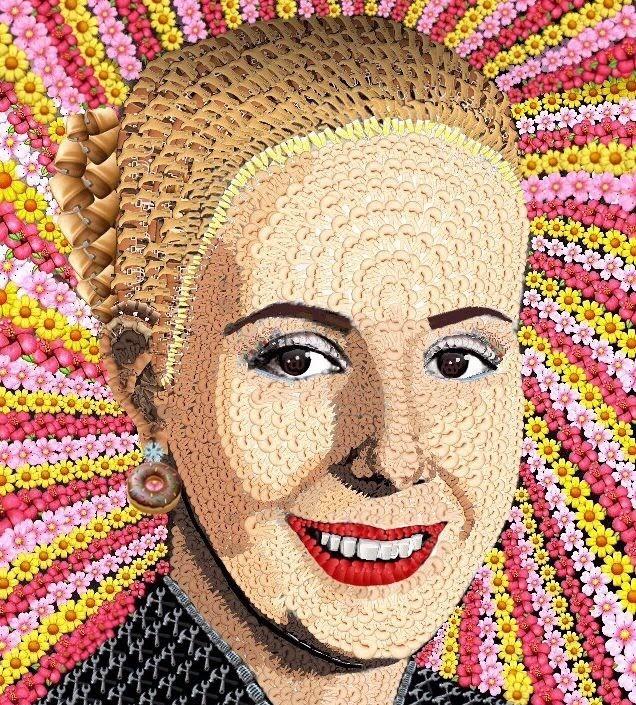 ¿Habías visto retratos con emojis? La artista argentina Mercedes Morèteau los hace con miles de emoticones y más de 150 años de trabajo.