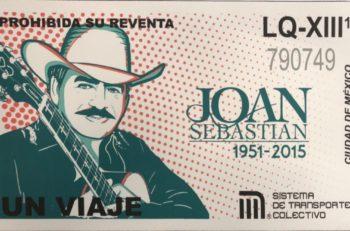 Un diseño de Joan Sebastian estará en los boletos del Metro como una conmemoración por su tercer aniversario luctuoso. Saldrán el 22 de noviembre.