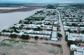Los Mochis amanece bajo el agua debido a las inundaciones que se presentaron en Sinaloa estos últimos días por la tormenta tropical 19-E