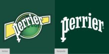 Perrier limpia y simplifica su logotipo pero conservando ese toque de elegancia, las burbujas gaseosas siguen siendo parte de la identidad visual.