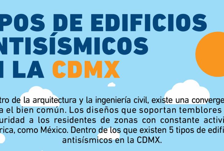 Saber los Tipos de Edificios Antisísmicos en la CDMX para es importante para reconocerlos ante un sismo y estar prevenidos.