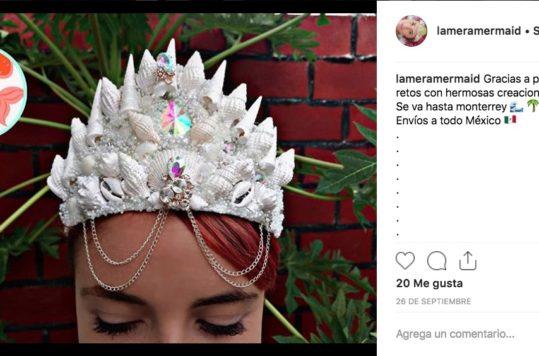 Coronas de Sirena hechas con conchitas de mar   Diseño mexicano