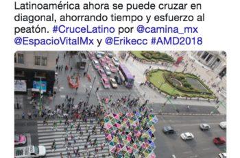 Diseño en un paso peatonal de la CDMX  El cruce latino de colores