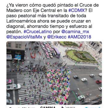 Diseño en un paso peatonal de la CDMX| El cruce latino de colores