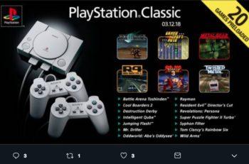 La PlayStation Classic llegará al mercado a principios de diciembre y Sony comunicó la lista de los 20 videojuegos que estarán disponibles en la consola.