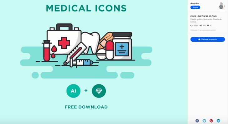 Estos Iconos Médicos para descarga gratuita demuestran la creatividad de los diseñadores que te permitirán crear productos más profesionales.