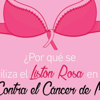 19 de Octubre Día Internacional de la Lucha Contra el Cáncer de Mama; el lazo rosa es utilizado como el símbolo de todos los movimientos y fundaciones.