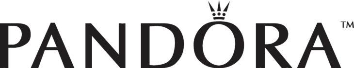 El logotipo de Pandora es un reflejo de la elegancia que la marca ofrece en sus productos, tal cual si fueran diseños de la realeza.