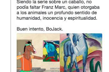 """BoJack Horseman """"escondió"""" obras de arte de distintos artistas con ciertas modificaciones al más puro estilo de la caricatura de Netflix."""