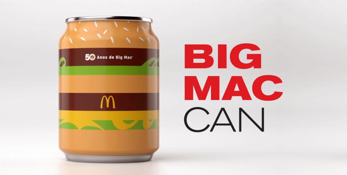 El acompañamiento perfecto para McDonald's es una lata de Coca Cola, pero que pasaría si la lata en sí es una Big Mac. Este packaging es delicioso.