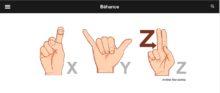 No existe mejor ejemplo de que los símbolos comunican una idea visualmente que el de lenguaje de señas, utilizados por los sordos-mudos.