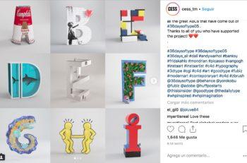 Existen diferentes caligrafías para realizar un alfabeto artístico, pero ¿qué pasa cuando combinas ilustración 3D y un homenaje a artistas? The Artphabet.