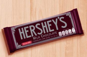 La marca de chocolate lanzó 6 envolturas conmemorativas de Barras Hershey's Vintage, las cuales retoman los distintos logotipos.
