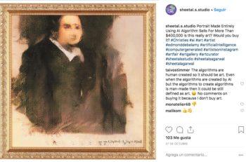 """""""Edmond de Belamy"""" es una pintura realizada por Inteligencia Artificial que recientemente fue subastada por más de 8 millones de pesos."""
