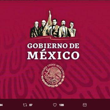 La nueva imagen del Gobierno Federal 2018-2024 fue subida a la cuenta de Twitter de las periodista y conductora Azucena Uresti.