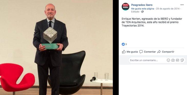 El mexicano Enrique Norton recibirá la Medalla Bellas Artes en Arquitectura 2018 por su destacable trabajo en dicha disciplina.