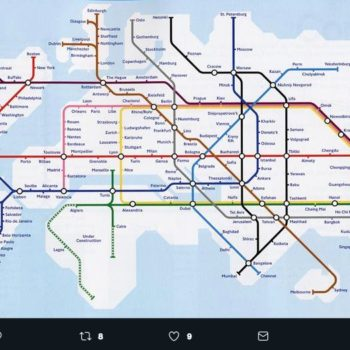 Mapa del Metro Mundial | Sistema Ferroviario Subterráneo Global
