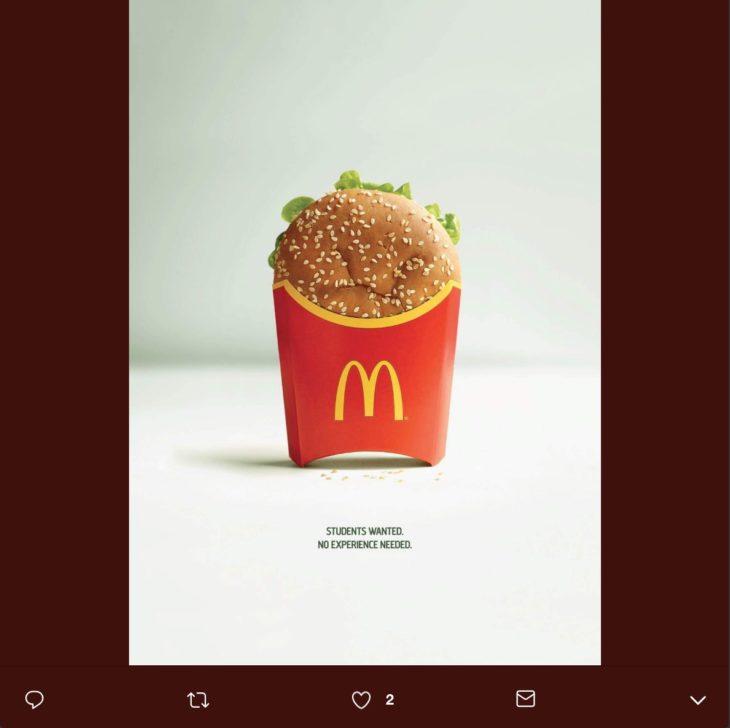 McMistakes es una campaña creada por McDonald's Europa y TBWA Bélgica para contratar estudiantes que trabajen en sus restaurantes.