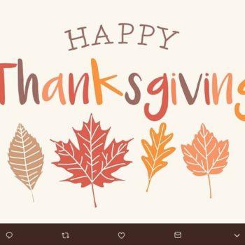 Aprovecha estas tarjetas de Thanksgiving descargables para añadir el mensaje que deseas compartir con tus seres queridos y enviar un detalle.