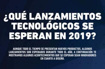 Estos lanzamientos tecnológicos de 2019 son esperados dado que los productos representan novedad en cuanto a diseño contra sus competidores.