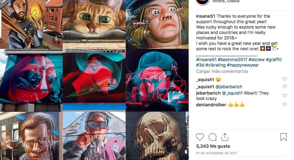 Estos Graffitis en 3D no sólo tienen volumen, sino que los aprecias mejor con lentes bicolor; puedes descubrir una ilustración distinta en cada uno.
