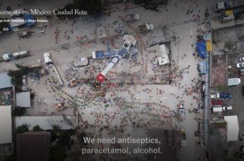 El fotógrafo Santiago Arau, realizó un documental del 19S con tomas aéreas de la catástrofe; el New York Time lo subió, por lo que está disponible GRATIS.