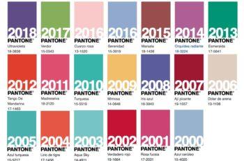 Estos son todos los Colores del Año según Pantone, desde el primero que lanzó en 2000, la dupla de 2006, hasta el coral vivo del 2019.