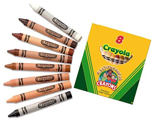 Crayola Multicultural es un set de 8 tonos de piel para que al colorear personas no tengas que usar el naranja, rosa o amarillo.
