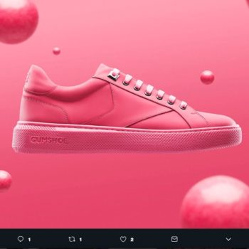 GumShoe es un diseño innovador, se trata de tenis hecho de chicles recolectados de las calles de Ámsterdam; el color de éstos es rosa chicle.