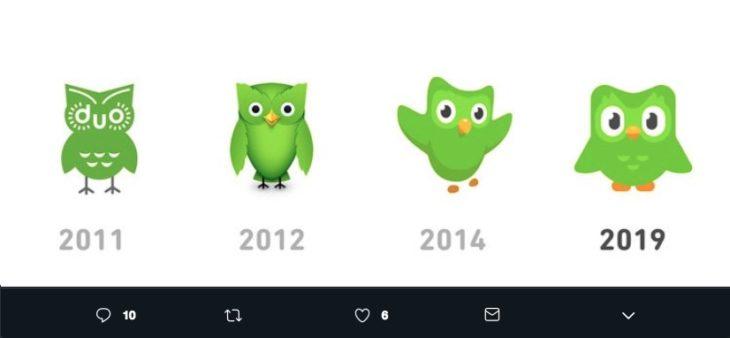 El logo de Duolingo se rediseñó después de 5 años, a diferencia de la tendencia minimalista, éste apuesta por más detalles.