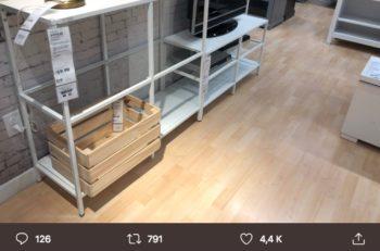 Un usuario de twitter compartió una foto con los huacales marca IKEA, que tienen un costo de 10 dólares y aseguran tener un diseño sueco.