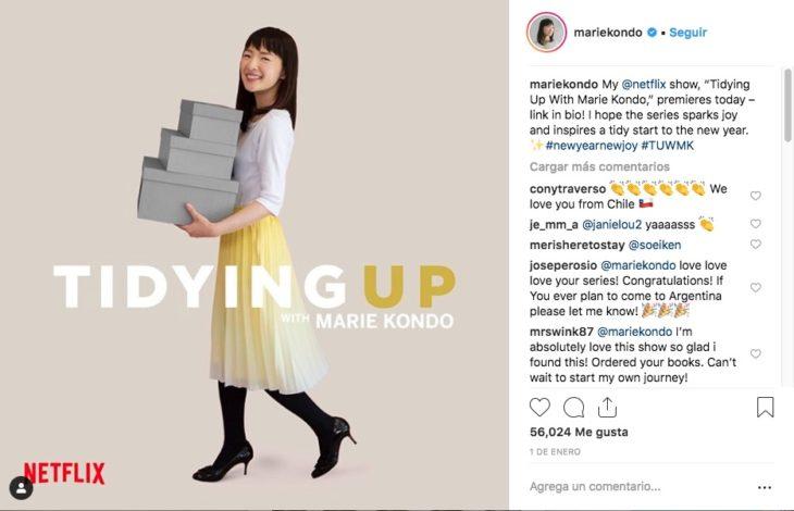"""Marie Kondo y Netflix se unieron para mostrar """"La Magia del Oden"""" que ayuda a deshacerte de lo que necesitas y redecorar tu casa."""