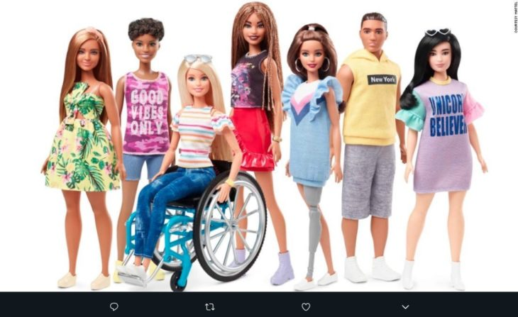 Una muñeca en silla de rudas será lanzada en junio como parte de la línea Barbie Fashionistas 2019, un diseño inclusivo que muchos aprecian.