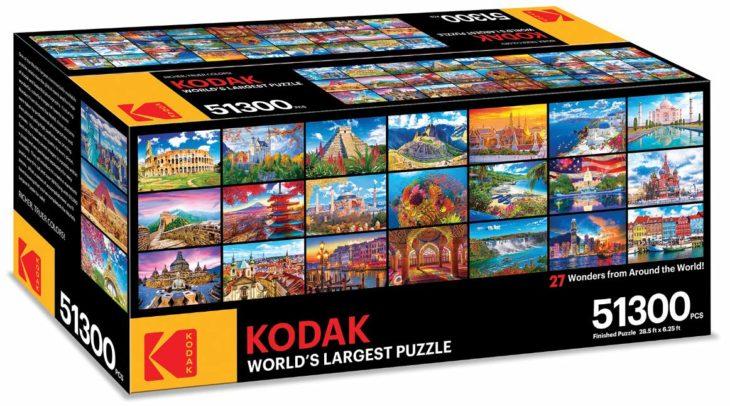El rompecabezas Kodak más grande en realidad son 27 pequeños que se pueden ensamblar entre sí, creando uno solo de 8.68 metros de largo por 1.90 de altura.