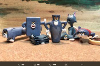 Estas esculturas de Tom creadas por el artista Taku Inoue, recrean momentos incómodos del gato de la caricatura Tom & Jerry.