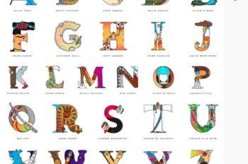 """¿Cómo representaría la letra """"F"""" a Frida Kahlo? Strong Women Font es un proyecto creado para representar a mujeres en la tipografía con creatividad."""