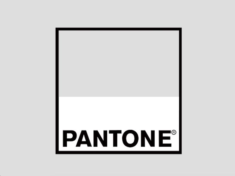 El logo de Pantone utiliza el negro y el blanco como colores institucionales para mantenerse neutral ante la gran variedad de colores que existen.