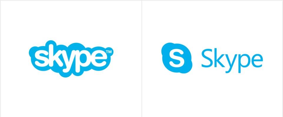 El logotipo de Skype se mantiene casi intacto desde sus inicios, lo que sí es que se ha modificado su color oficial en varias ocasiones.