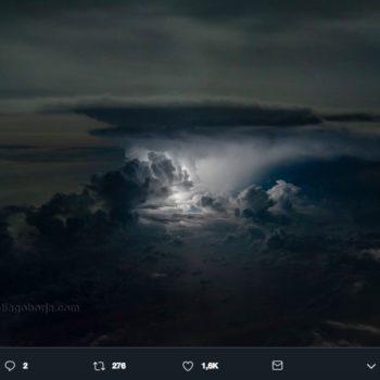 El piloto de tormentas, Santiago Borja, es un ecuatoriano apasionado de la fotografía que recibió ese sobrenombre por capturar dichos paisajes.