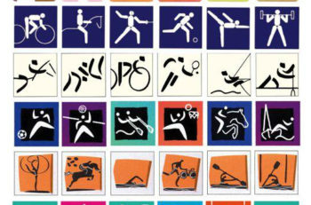 Los Pictogramas de los Juegos Olímpicos se crearon por primera vez en Tokio 1964, después de 56 años regresan a su lugar de origen con los próximod JJ.OO.