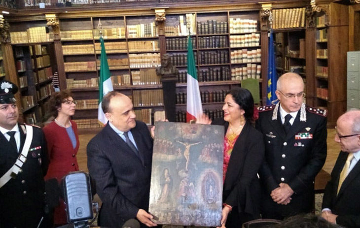 Italia regresó a México 594 pinturas robadas entre los años 60s y 70s, el procedimiento legítimo tardó 2 años en realizarse.