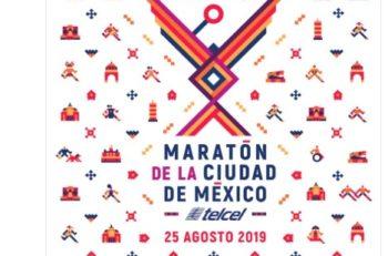 El cartel del Maratón de la CDMX 2019 fue develado hoy por Sheinbaum, Guevara, Carvallo y otros funcionarios destacados 🥇